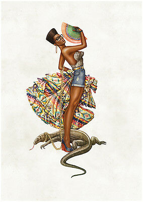 AFRICAN  ETHNIC TRIBAL art Glossy Photo print A4 or A5 size