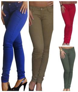 Ladies Slim Fit Skinny Coloured Studded Denim Women/'s Jeans 6 8 10 12 14 16
