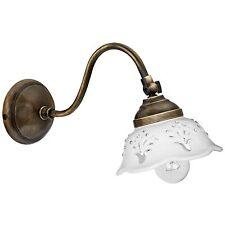 Wandleuchte Wandlampe Keramik weiß Glitzer 1x E14/ max.40W * CERAMICHE BORSO
