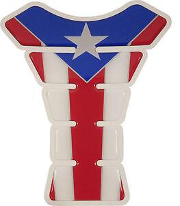 Puerto Rico Waving Flag 3D Gel Motorcycle Gas Tank pad tankpad protector Guard