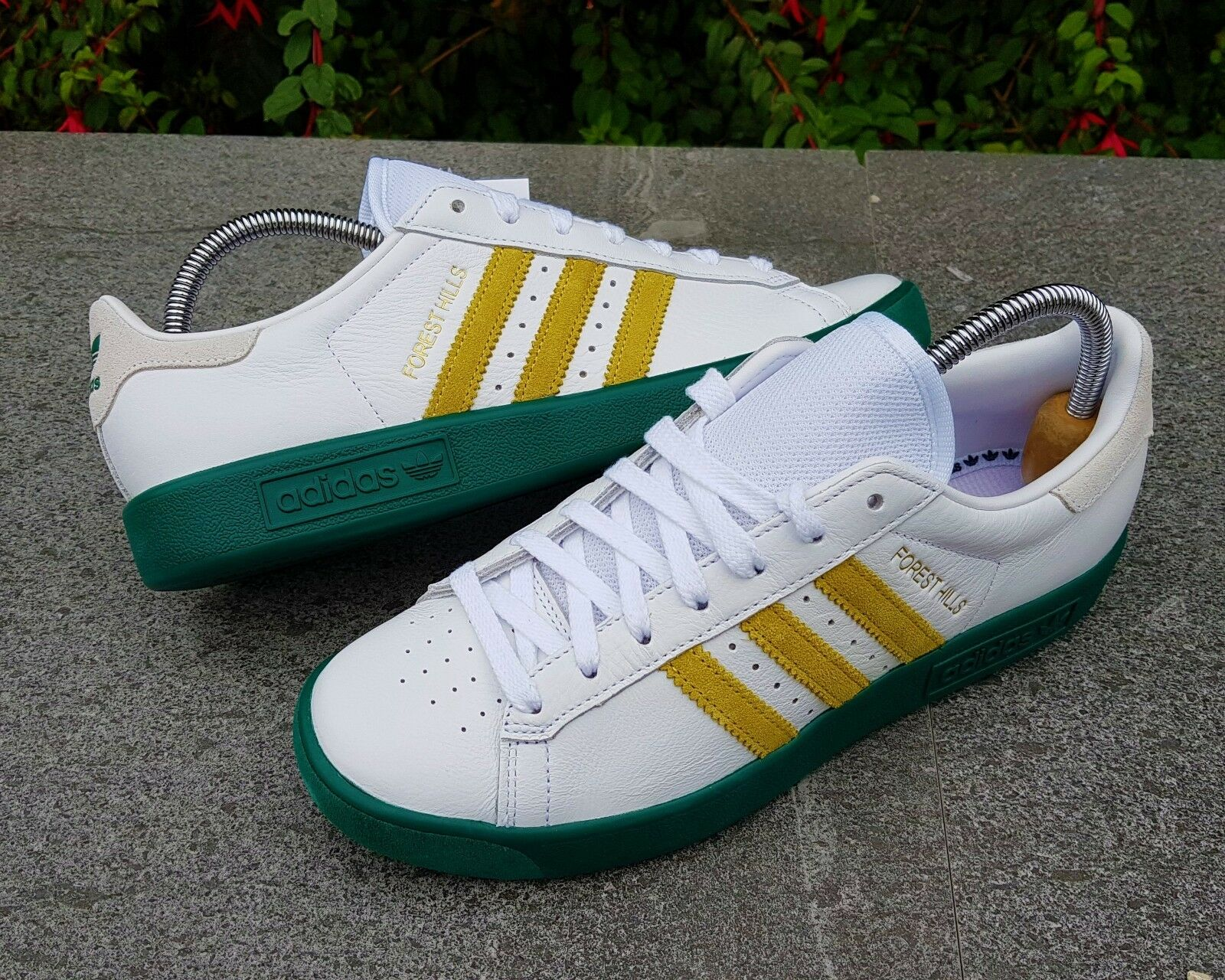BNWB & auténticos Adidas Originals ® Forest Hills Retro blancoo Zapatillas Uk Talla 8