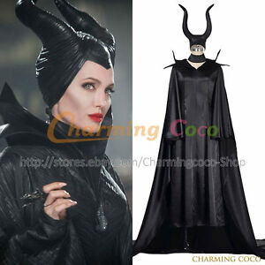 Details About Maleficent Queen Fairy Maleficent Cosplay Costume Halloween Fancy Dress Outfit