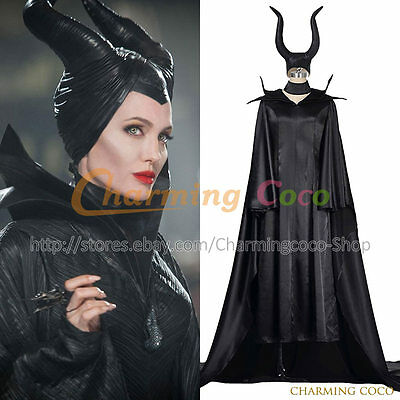 Maleficent Queen Fairy Maleficent Cosplay Costume Halloween Fancy Dress Outfit Ebay