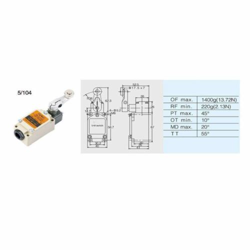 Limit Switch Door Switch Spring  Type For Coldroom Freezer Room doors 5106