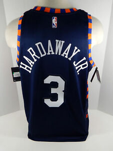 huge selection of 204a8 5a998 Details about Mens New York Knicks Tim Hardaway #3 Blue Jersey Swingman  City Edition XL NWT