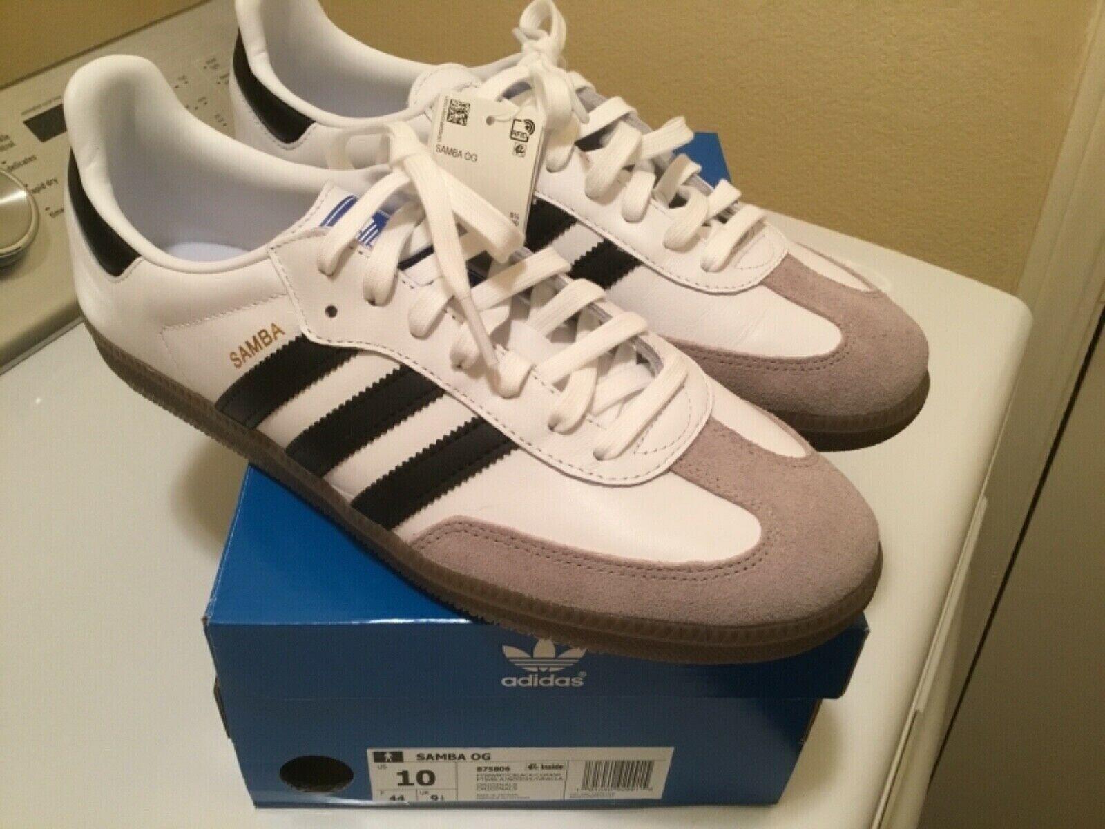 b2bedd5c921 (B75806) Men s Adidas Originals Samba OG shoes Cloud White NEW ...