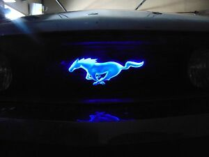 Light up Ford Mustang Front Grill Emblem in different colors install yourself | eBay