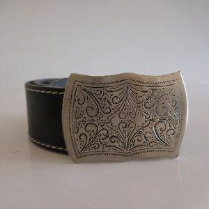 81cec8378499 Ceinture femme vintage art nouveau cuir fait main made in France   eBay