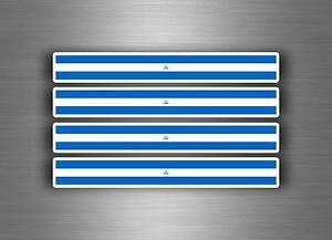 4x sticker decal car stripe motorcycle racing flag bike moto tuning brazil
