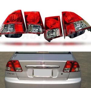 rear red tail light lamp for honda civic dimension sedan. Black Bedroom Furniture Sets. Home Design Ideas