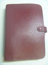 Filofax Burgundy Leather Personal Richmond Organizer Planner