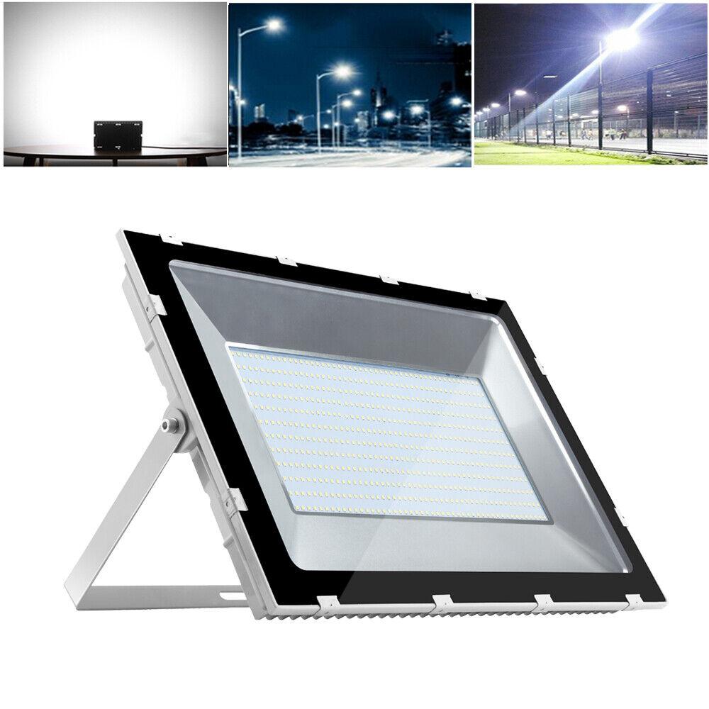 500W LED Fluter Flutlicht Außen Strahler Scheinwerfer Kaltweiß Ultraslim IP65