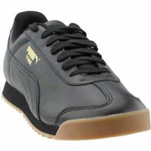 Puma-Roma-Classic-Gum-Sneakers-Casual-Black-Mens