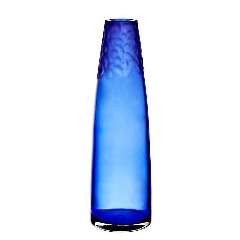 Vase Blaumenvase JOZY ART QUEEN blau, H=37cm (ART GLASS by CRISTALICA) GW04820