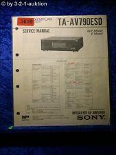 Sony Service Manual TA AV790ESD Amplifier (#3659)