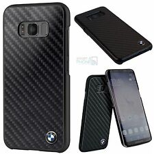 BMW Real Carbon Fiber Schutzhülle Samsung Galaxy S8 Hard Back Cover Case schwarz