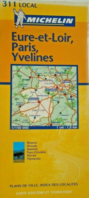 Road Map Of France And Italy.Michelin Map 311 Eure Et Loir Paris Yvelines France Local Road And Tourist Free