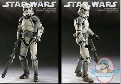 1 6 Star Wars 41st Elite Corps Coruscant Clone Trooper Sideshow Used