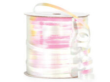 """*250YDS* 3/16"""" Beautiful WHITE IRIDESCENT Curling Ribbon Poly Embossed"""