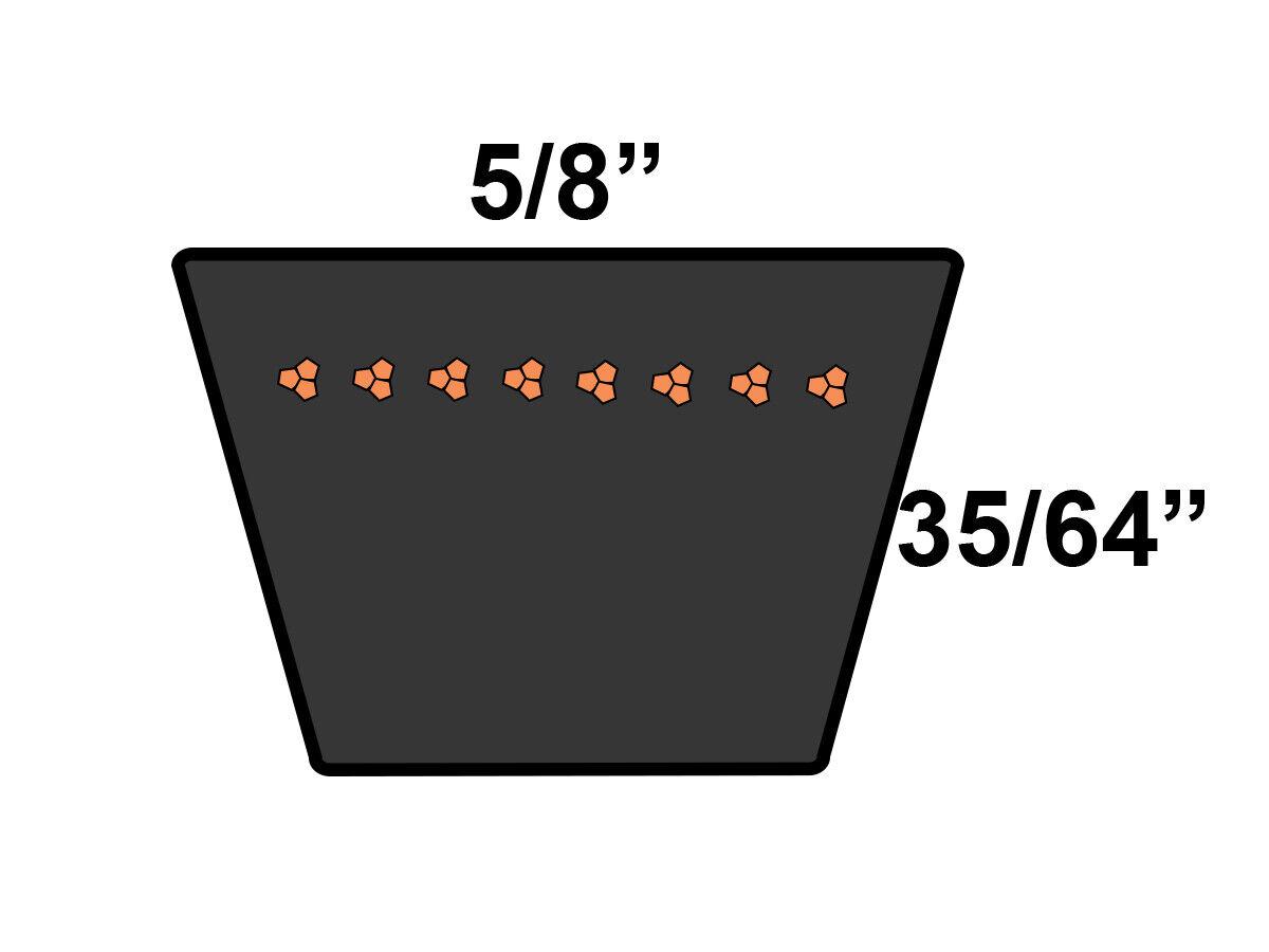 D/&D PowerDrive 5VX425 V Belt  5//8 x 42.5in  Vbelt