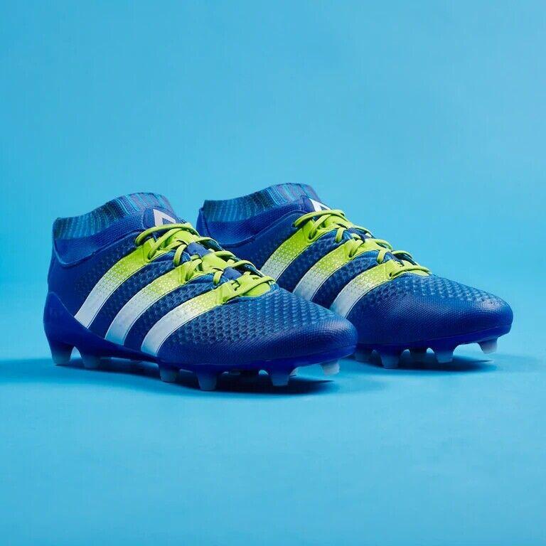 ADIDAS ACE 16.1 PRIMEKNIT FG AQ5152 Football Stiefel Soccer Cleats Blau Weiß
