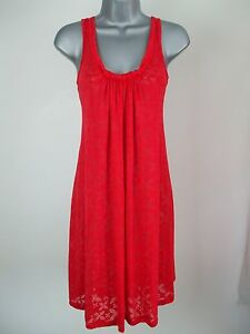 Summer-Beach-Dress-New-M-amp-S-Scoop-Neck-Flare-Shift-Jersey-Drape-Kaftan-Size-8-10