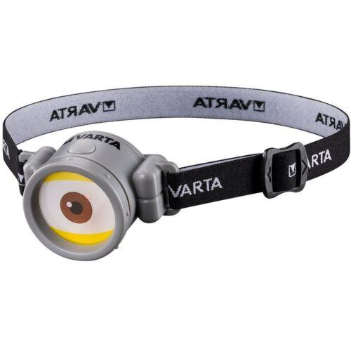Varta 5mm LED Minions Head Light for Children incl 1x High Energy AAA Batter...