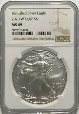 2017-W Burnished $1 American Silver Eagle NGC MS69 Early Releases Flag ER Label