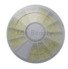 HALF ROUND 3d NAIL ART GEMS JEWELS DESIGN CRAFT NAILS 6CM WHEEL PEARL WHITE 414