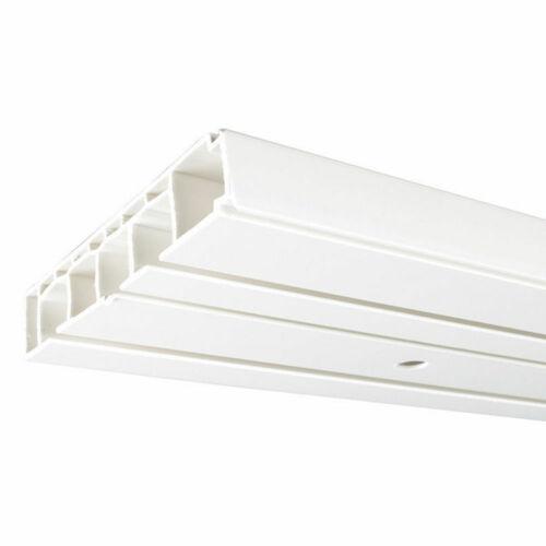 oder 3-läufe 2 weiß PVC  Vorhangschienen Gardinenschienen Gardinenbrett 1-