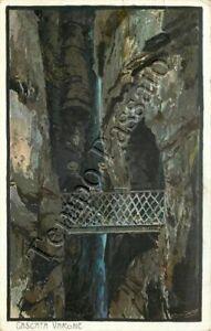 Cartolina di Tenno, cascate del Varone - Trento