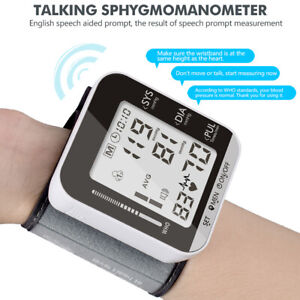 Automatic Wrist Blood Pressure Monitor Heart Rate BP Meter Tester LED Display