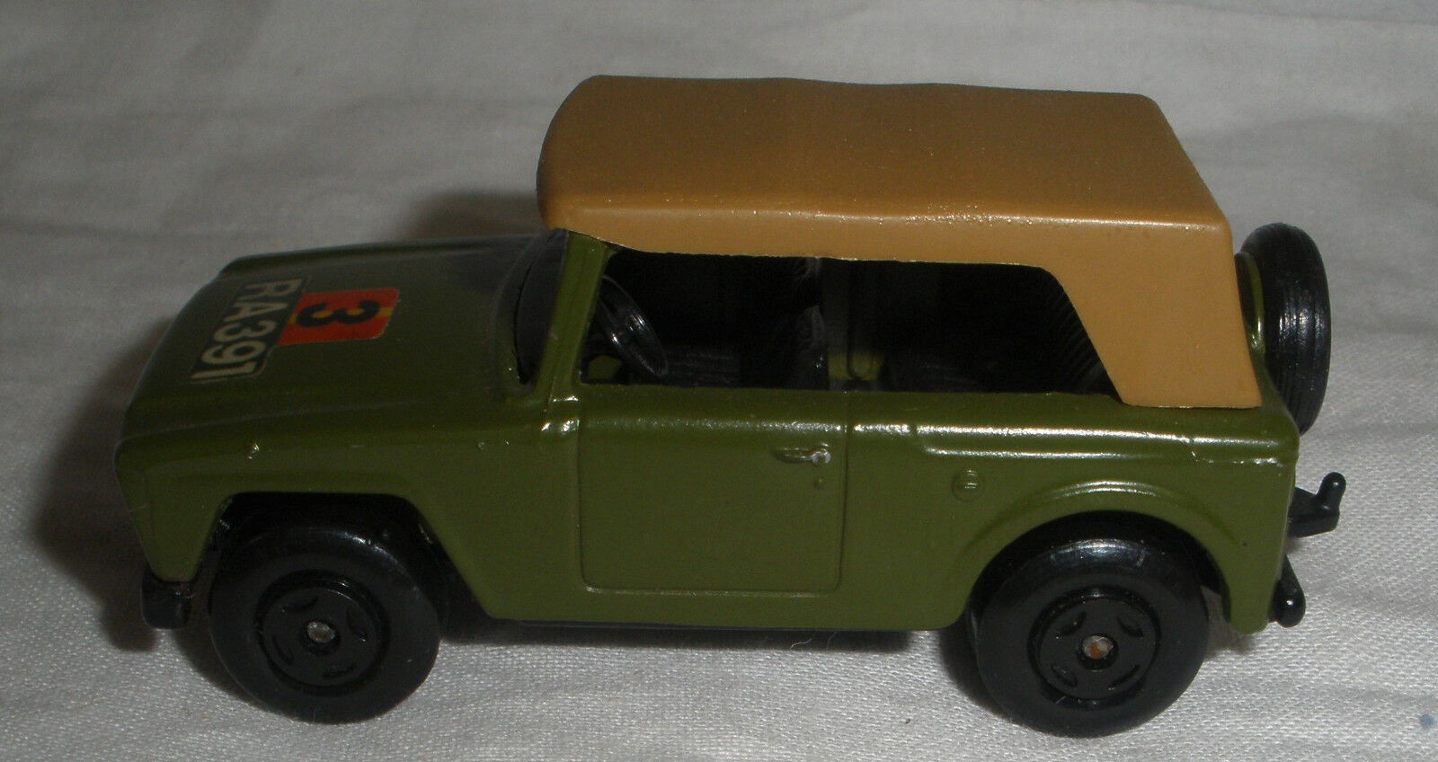 Matchbox Superfast Field Car  RA391 ARMY LABEL Olive Collectors Quality Cond