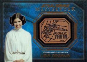 STAR-WARS-Masterwork-2016-Medallion-Card-of-Leia-Organa-Battle-of-Yavin