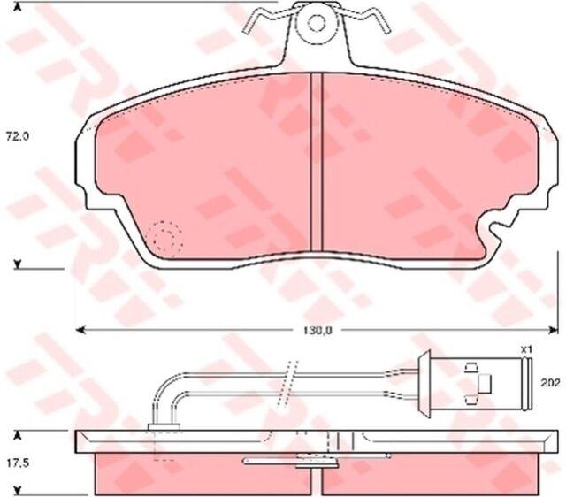 Bremsbelagsatz Scheibenbremse TRW GDB851 vorne für HONDA LEGEND 1 HS KA 2.7 24V