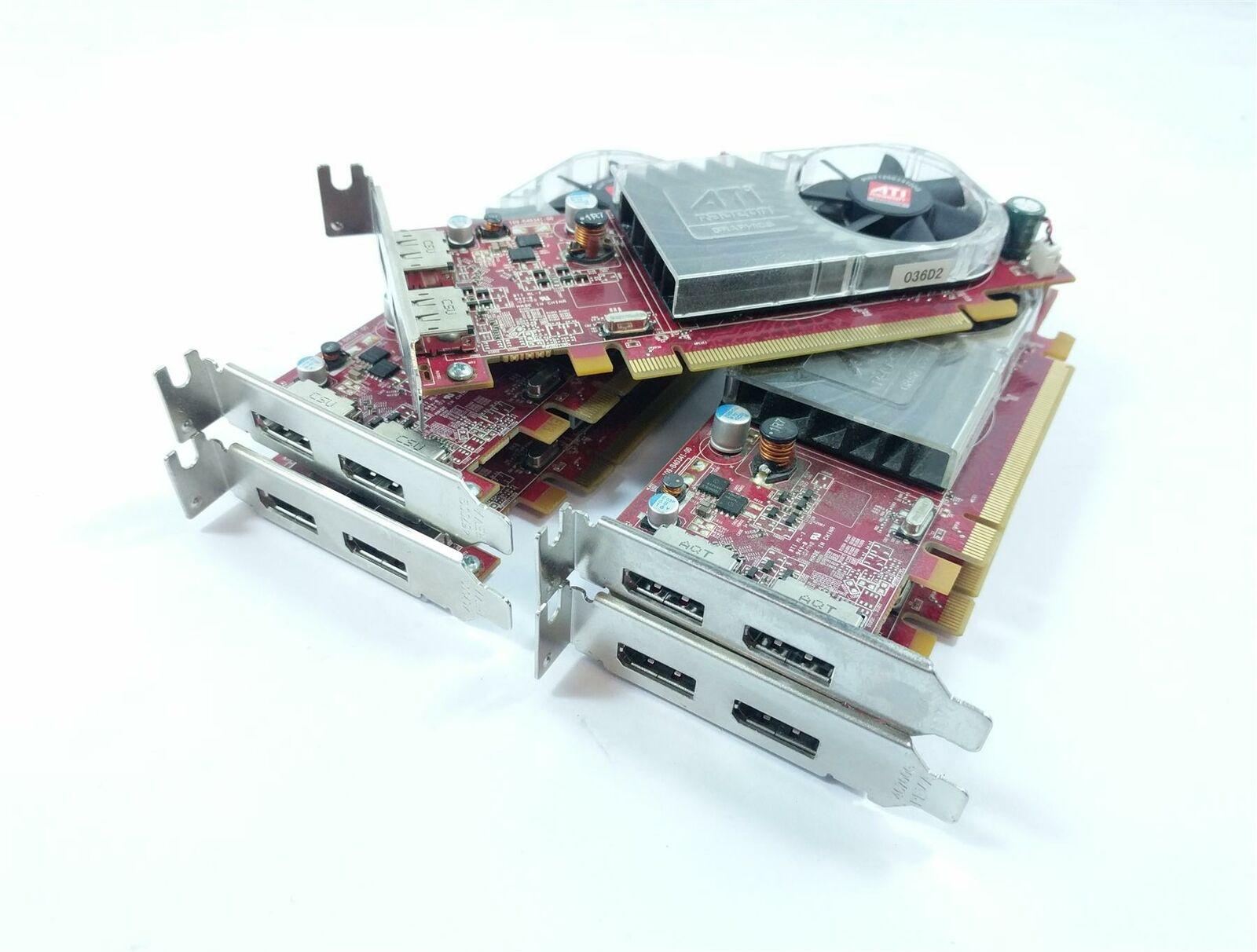 5x Dell C120D HD3470 256MB PCI-E Dual Display Port Low Profile Graphics Card