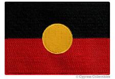 AUSTRALIAN ABORIGINAL FLAG embroidered iron-on AUSTRALIA PATCH INDIGENOUS PEOPLE