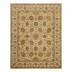 "7'9"" x10'2"" Hand Knotted Wool Agra Superfine Oriental Area Rug Beige Traditional"