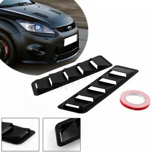2x-Universal-Car-Hood-Vent-Louver-Scoop-Cover-Air-Flow-Intake-Cooling-Panel-Trim