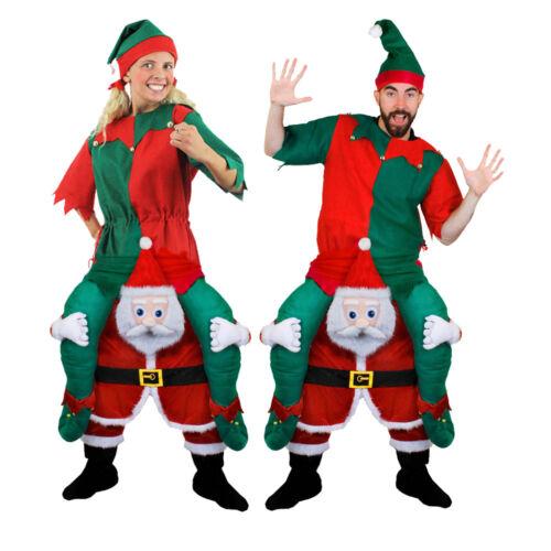 Gli adulti Costume Elfo Tunica /& SANTA prendermi Divertente Novità Di Natale Costume