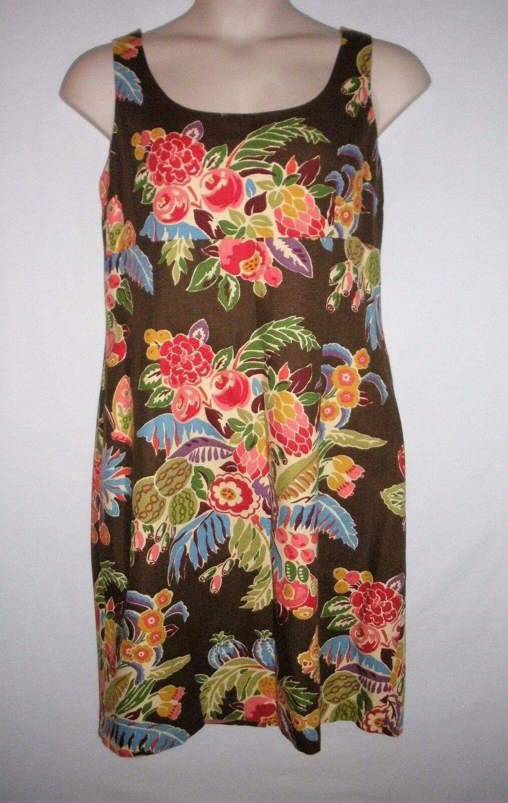 NEW WITH TAG  TALBOTS, Größe 16, Floral Dress MSRP  - braun Multi Farbe