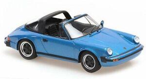 PORSCHE 911 Targa - 1977 - bluemetallic - Maxichamps 1:43