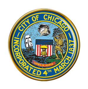 Chicago-Il-USA-Broche-Badge