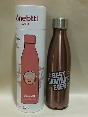 Onebttl Aqua For Grandma Grandmother Insulated Water Bottle 500 Ml 17 Oz Ebay