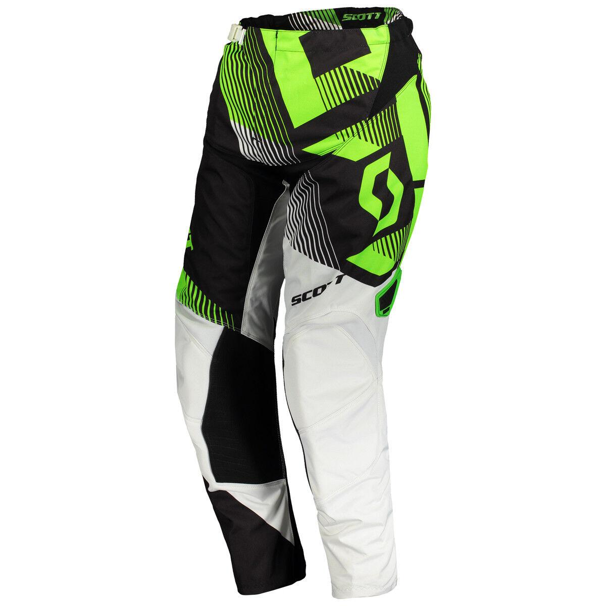 Scott 350 Dirt MX Motocross / DH Fahrrad Hose weiß/schwarz/grün 2018