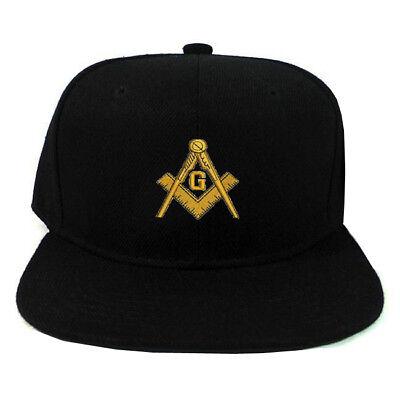 Black Hat with Gold and Blue Masonic Symbol Freemason/'s Baseball Cap