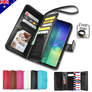 premium selection bf13e 7c55b Details about Flip Magnet Leather WALLET Case Cover for Samsung Galaxy S10  S9 S8 Plus Note 9 8