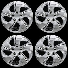 "4 CHROME 06-15 Honda Civic 15"" Bolt on Hub Caps Full Wheel Covers fit Steel Rims"