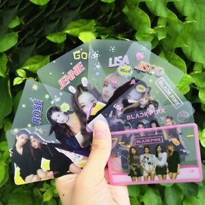 8PCS-Kpop-BLACKPINK-Transparent-Photo-Cards-LISA-JISOO-JENNIE-ROSE-Cards-lskn