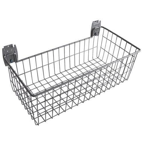Grey 610x300mm Deep Mesh Basket To Fit Plastic Slatwall Garage Storage Cam Lock
